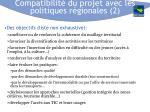 compatibilit du projet avec les politiques r gionales 2