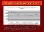 variaci n salarial seg n sexo y zona