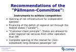 recommendations of the p llmann committee1