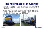 the rolling stock of connex2