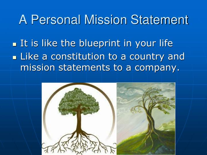 A Personal Mission Statement