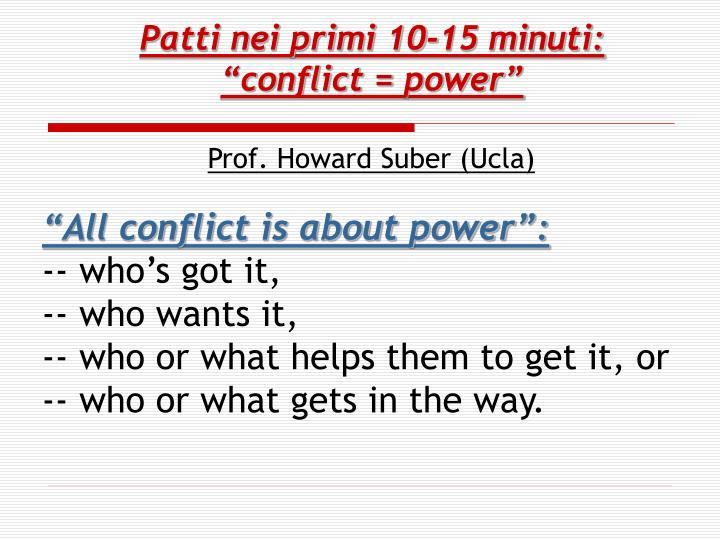 """Patti nei primi 10-15 minuti: """"conflict ="""
