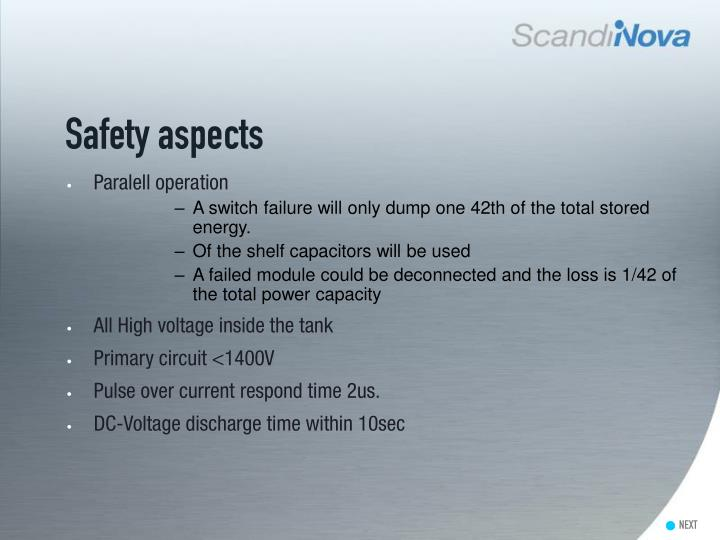 Safety aspects