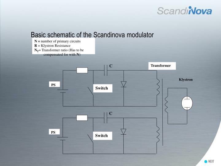 Basic schematic of the Scandinova modulator