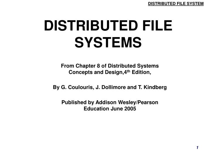 Ppt Distributed File Systems Powerpoint Presentation Free Download Id 6418615