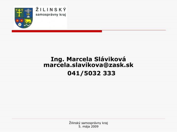 Ing. Marcela Sláviková