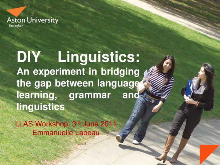 diy linguistics an experiment in bridging the gap between language learning grammar and linguistics n.