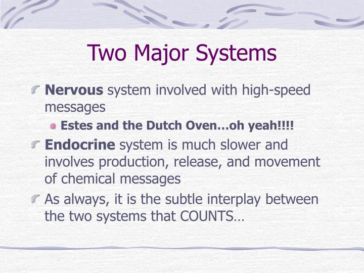 Two major systems