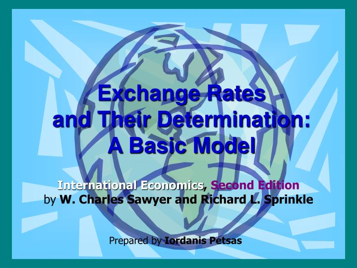 exchange rates and their determination a basic model n.