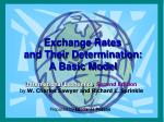 exchange rates and their determination a basic model