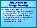 the demand for foreign exchange5