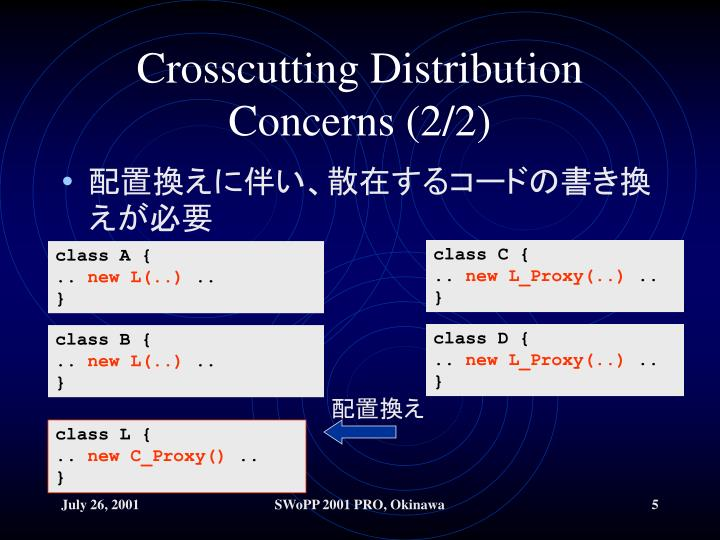 Crosscutting Distribution Concerns (2/2)