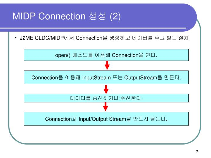 MIDP Connection