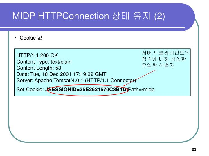 MIDP HTTPConnection