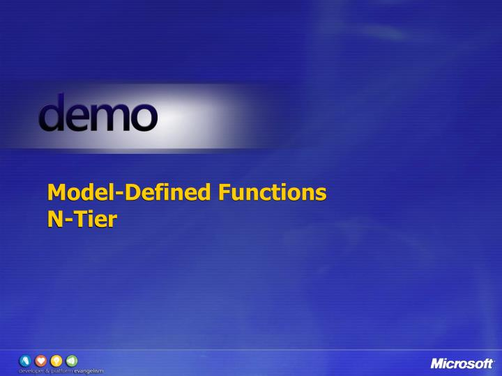 Model-Defined Functions