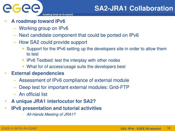 SA2-JRA1 Collaboration