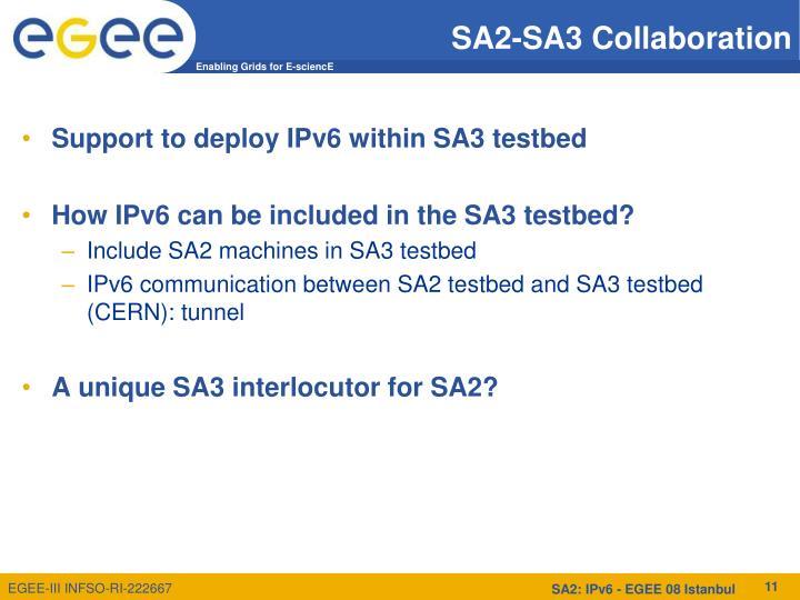 SA2-SA3 Collaboration