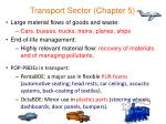 transport sector chapter 5