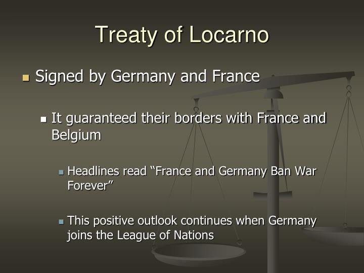 Treaty of Locarno