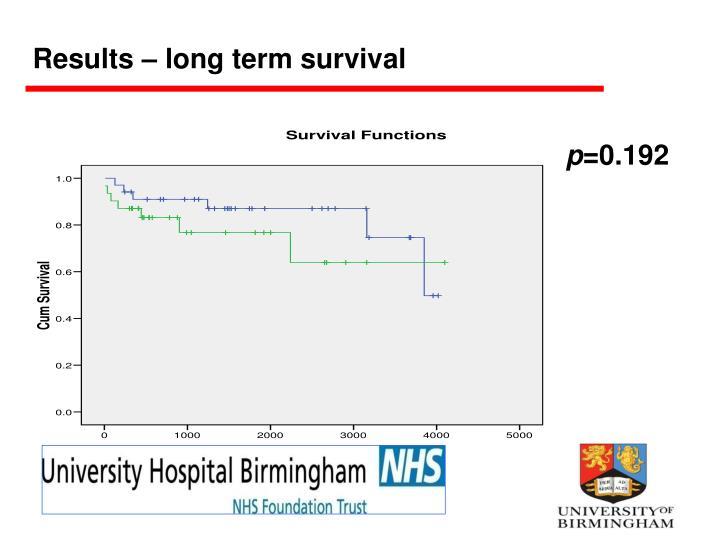 Results – long term survival