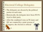 electoral college delegates