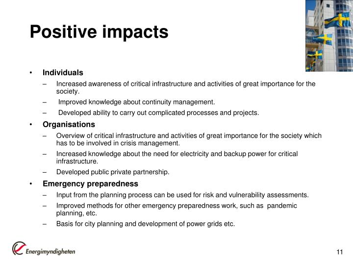 Positive impacts