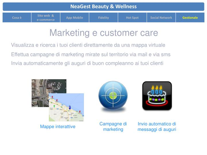 Marketing e customer care