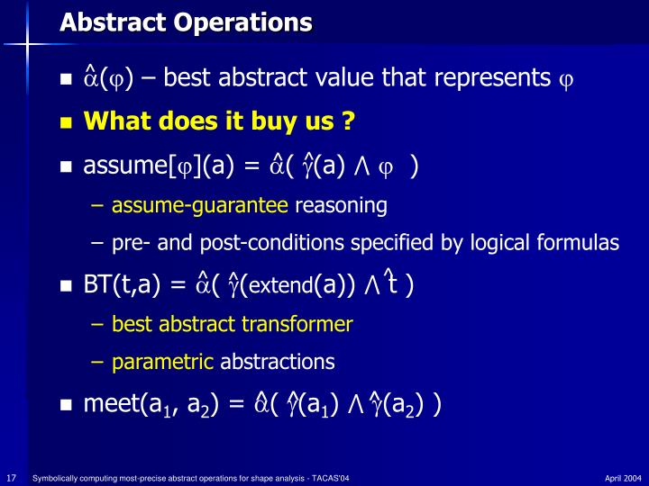 Abstract Operations