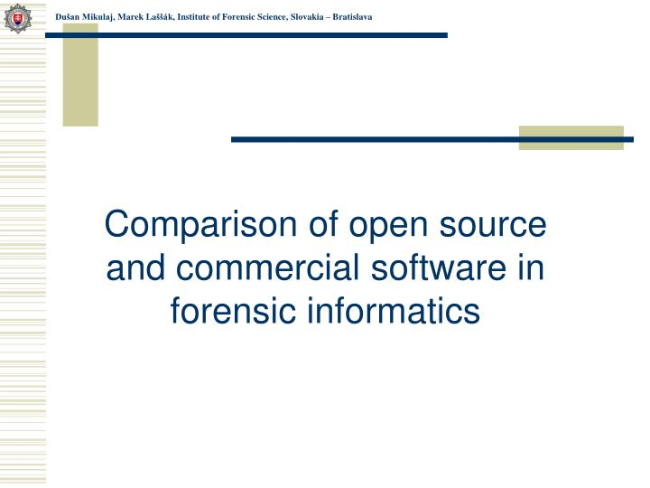 Comparison of open source and commercial software in