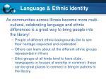language ethnic identity