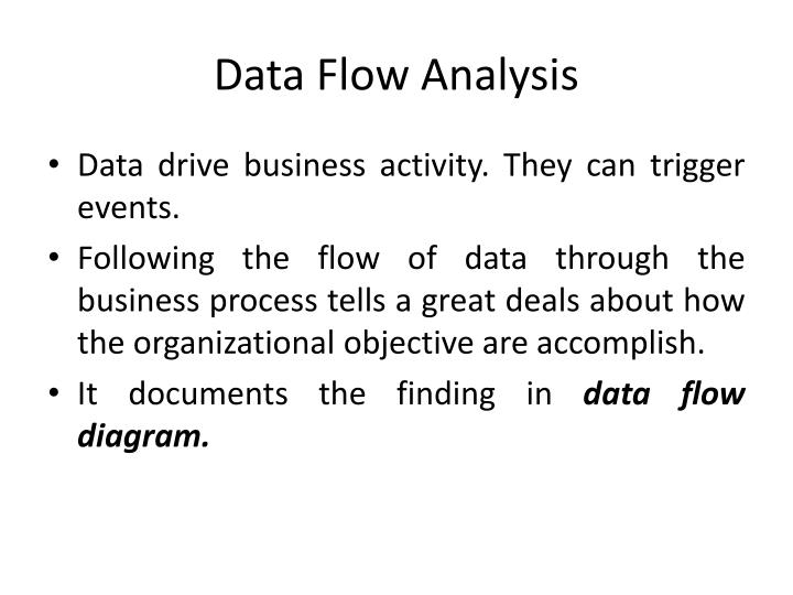 Data flow analysis