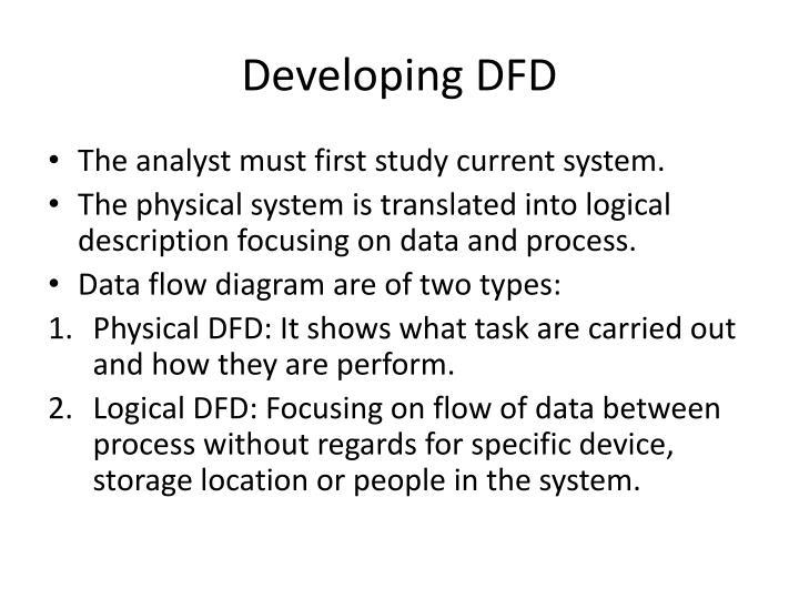 Developing DFD