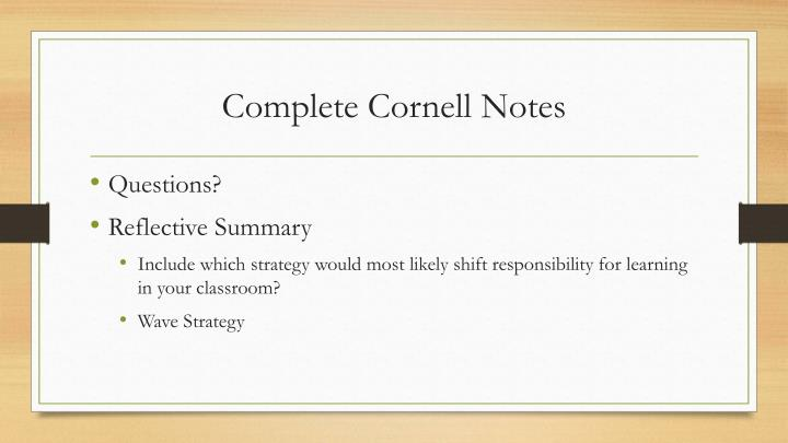 Complete Cornell Notes