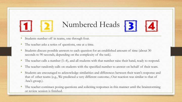 Numbered Heads