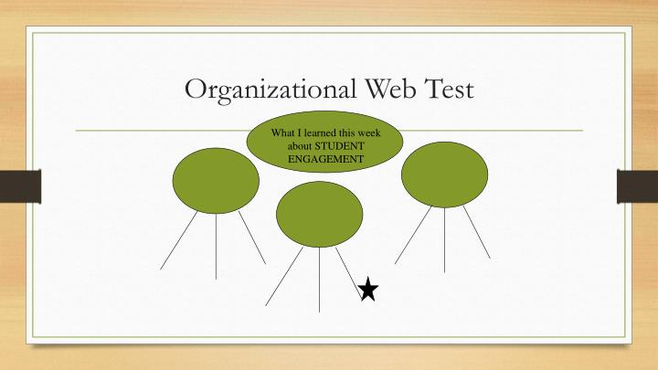 Organizational Web Test