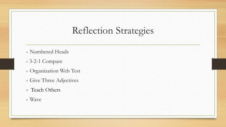 Reflection Strategies