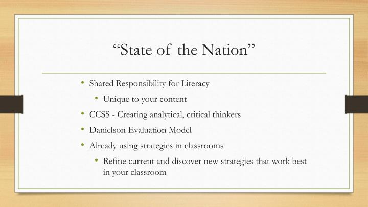 """""""State of the Nation"""""""