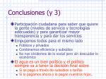 conclusiones y 3