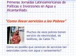 primeras jornadas latinoamericanas de pol ticas e inversiones en agua y alcantarillado1