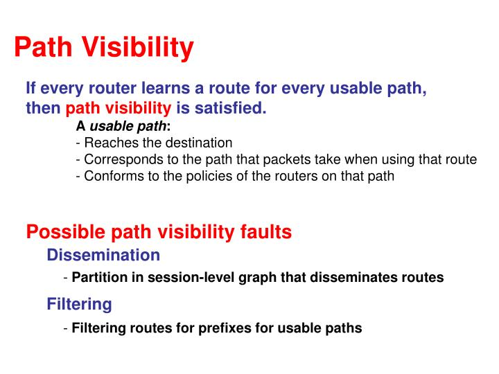Path Visibility