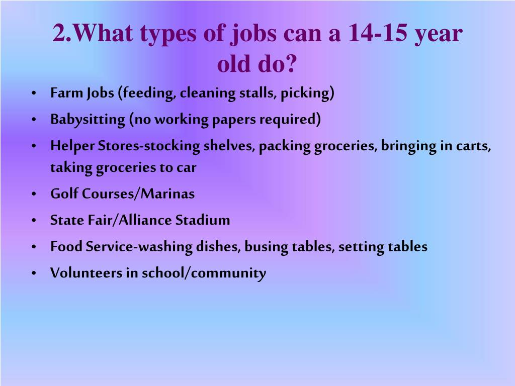 Cleaning Jobs For 14 Year Olds