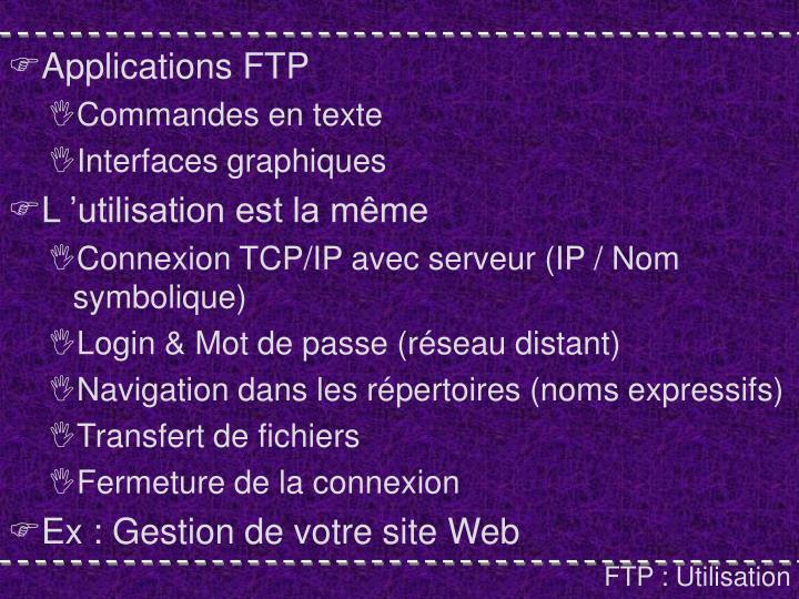 Applications FTP