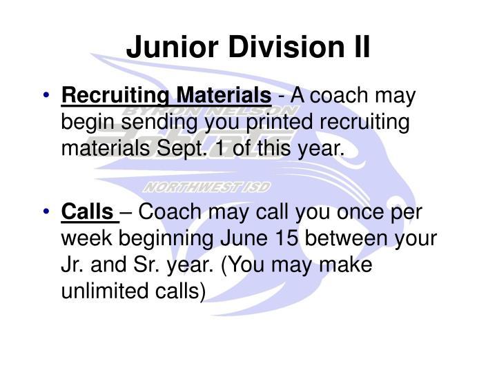 Junior Division II