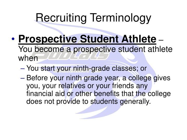 Recruiting Terminology