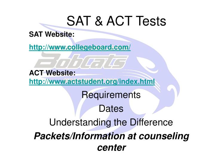 SAT & ACT Tests