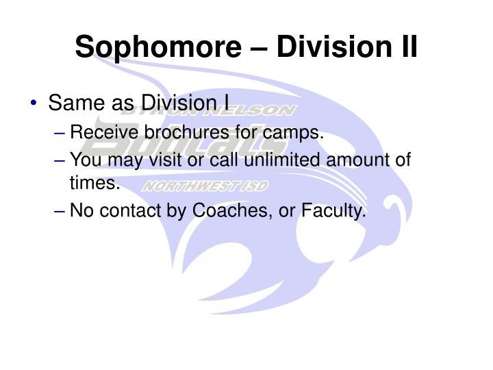 Sophomore – Division II
