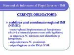 sistemul de informare al pie ei interne imi11