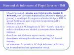 sistemul de informare al pie ei interne imi34