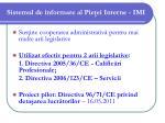 sistemul de informare al pie ei interne imi5