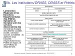 iib les institutions drass ddass et pr fets